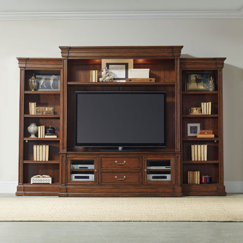 Clermont Four Piece Wall Group - Medium Wood Finish