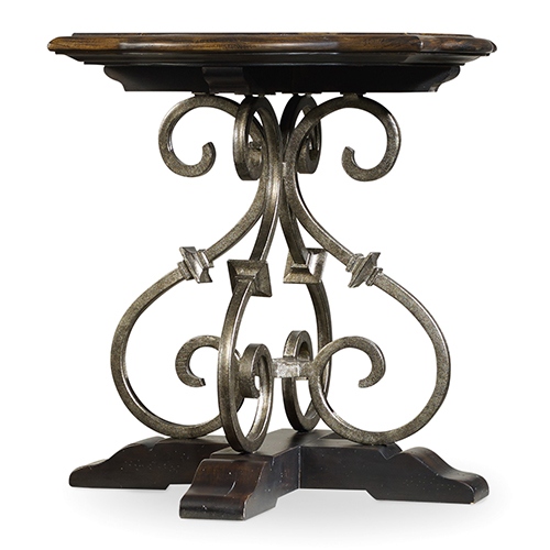 Treviso Black Wood and Iron Lamp Table
