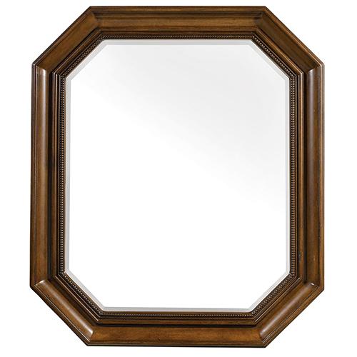 Furniture Archivist Dark Wood Portrait Mirror