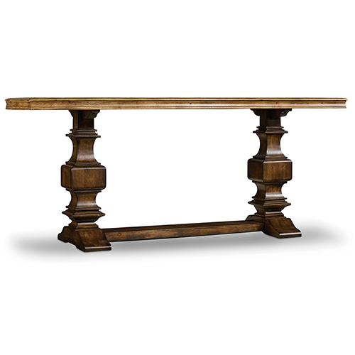 Hooker Furniture Archivist Dark Wood Console Table