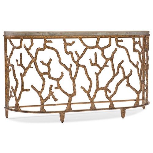Coral Console in Gold
