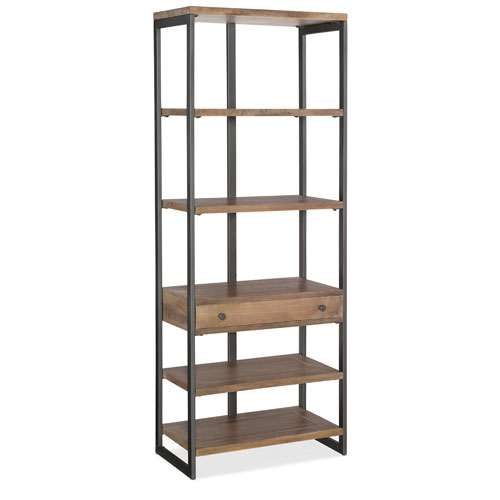 Wood and Metal Frame Bookcase