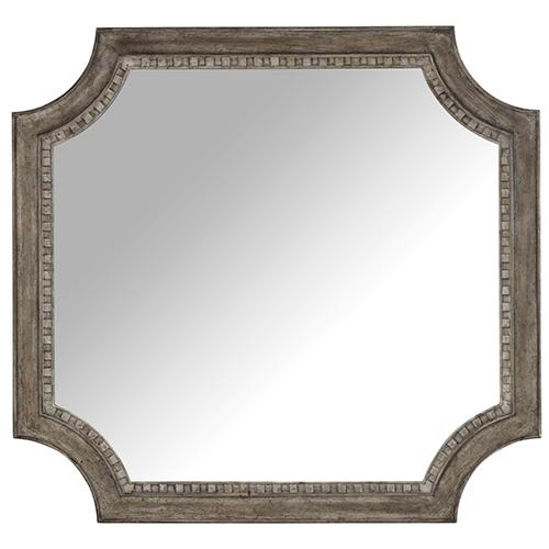 Hooker Furniture True Vintage Shaped Mirror in Light Wood