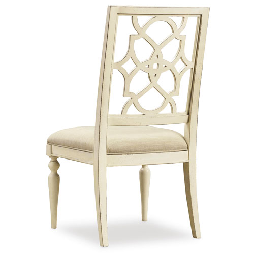 Sandcastle Fretback Side Chair - Upholstered Seat in Cream
