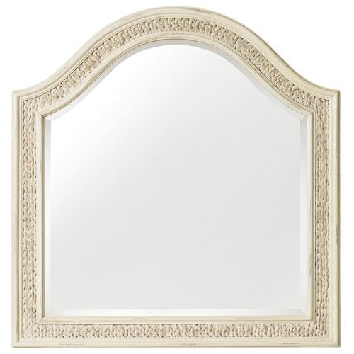 Sandcastle Mirror with Sea Grass in Cream