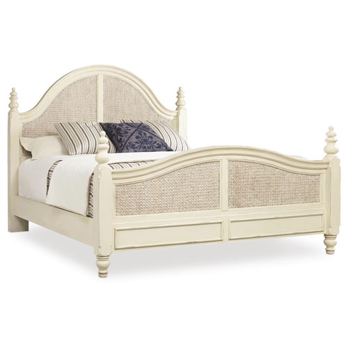 Sandcastle King Woven Panel Bed in Cream