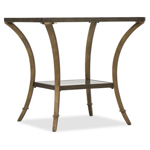 Gold Rectangular End Table