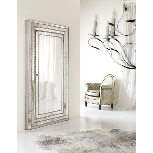 Melange Glamour Floor Mirror with Jewelry Armoire Storage
