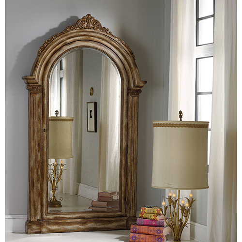 Hooker Furniture Vera Floor Mirror with Jewelry Armoire Storage
