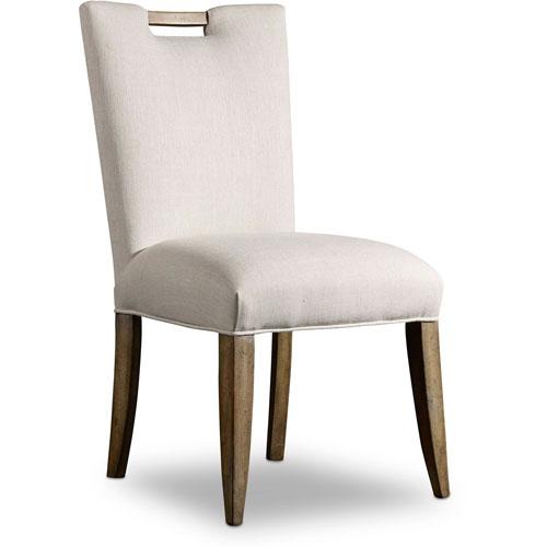 Melange Barrett White Upholstered Side Chair