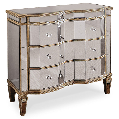 Mirrored Three Drawer Chest
