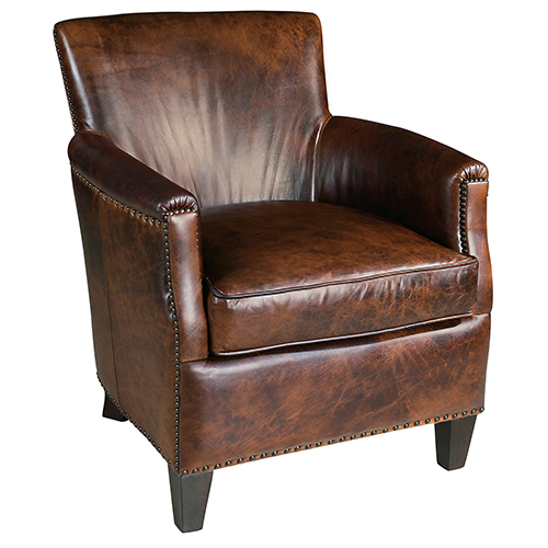 Hooker Furniture June Brown Leather Club Chair