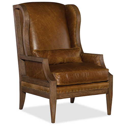 Hooker Furniture Laurel Exposed Wood Club Chair