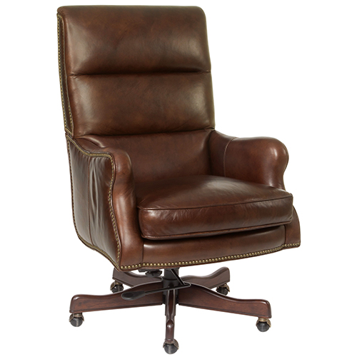 Gentil Hooker Furniture Victoria Brown Leather Executive Chair