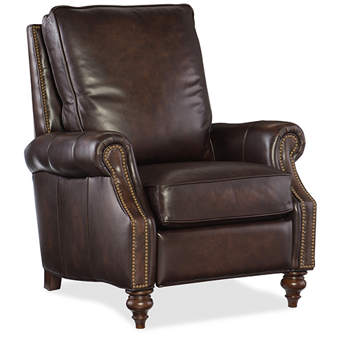 Conlon Brown Leather Recliner