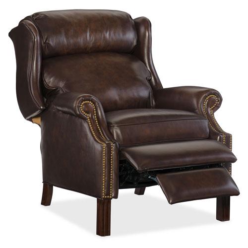 Hooker Furniture Finley Brown Leather Recliner