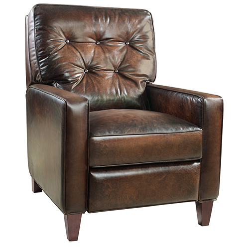 Barnes Brown Leather Recliner