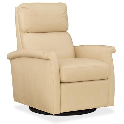 Hooker Furniture Rosalie Tan Leather Swivel Recliner