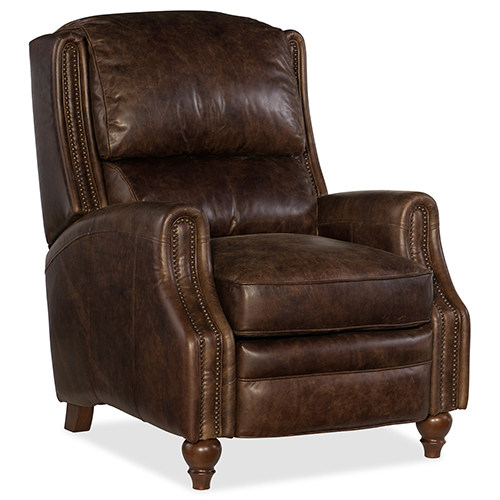 Asher Brown Leather Recliner