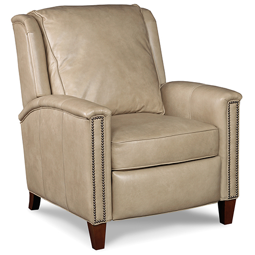 Kelly Beige Leather Recliner
