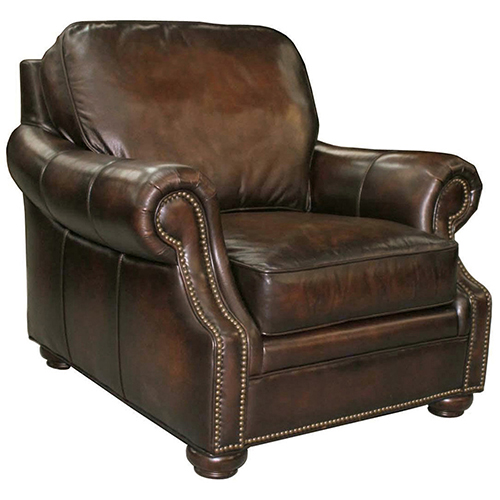 Montgomery Brown Leather Chair