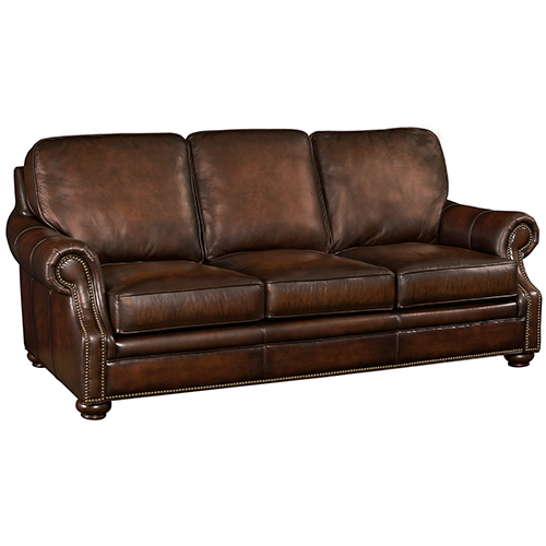 Hooker Furniture Montgomery Brown Leather Sofa