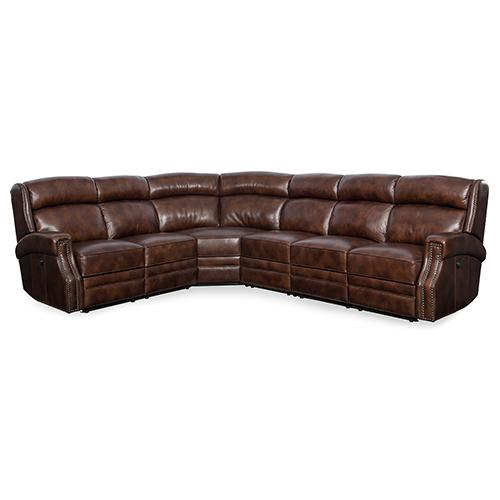 Hooker Furniture Carlisle 4 Piece Power Sectional