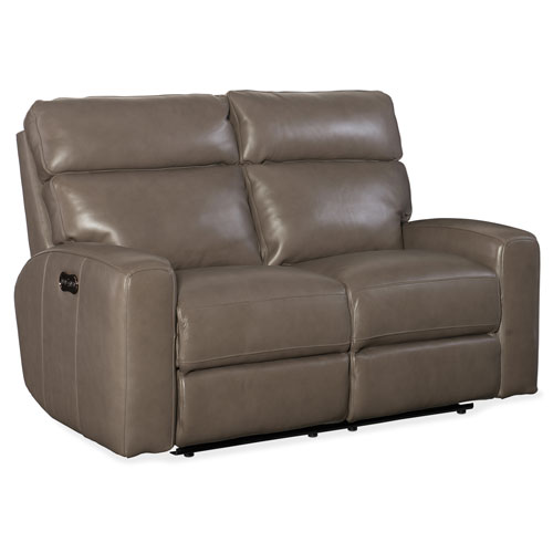 Hooker Furniture Mowry Power Motion Taupe Loveseat with Power Headrest