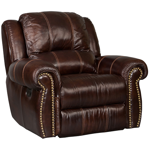 Jackson Brown Leather and Vinyl Recliner