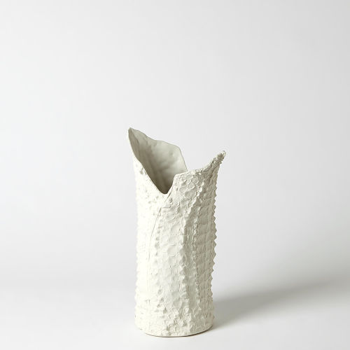 White Six-Inch Small Vase