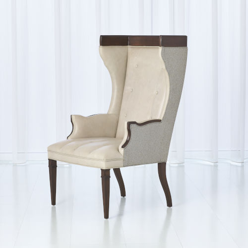 Wrenn Marbled Gray Leather Chair