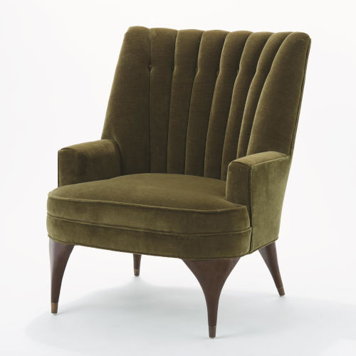 Duncan Cannes Moss Velvet Chair