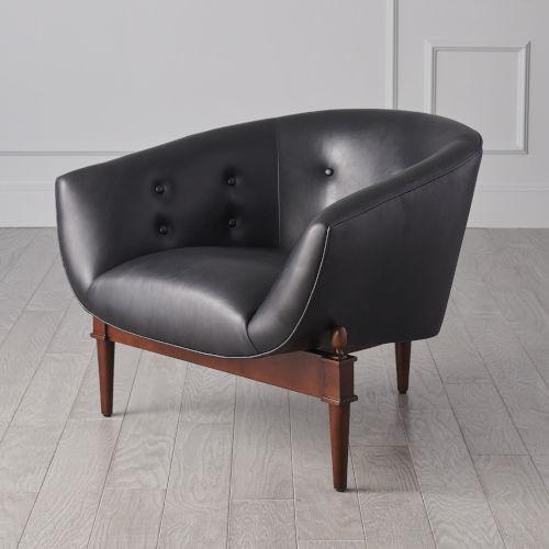 Mimi Black and Walnut 32-Inch Chair
