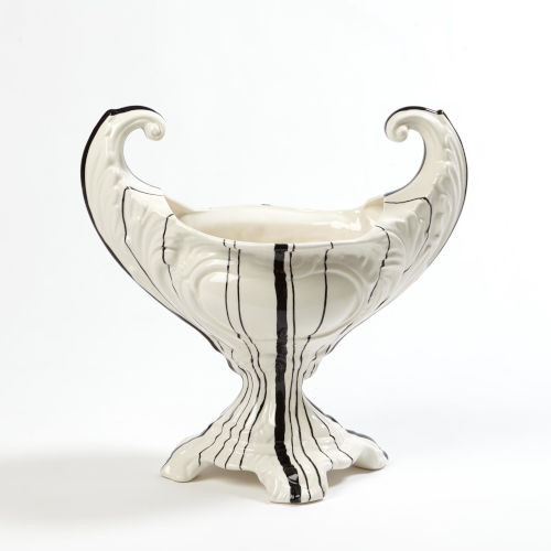 Barcode White Nine-Inch Bowl with Handles