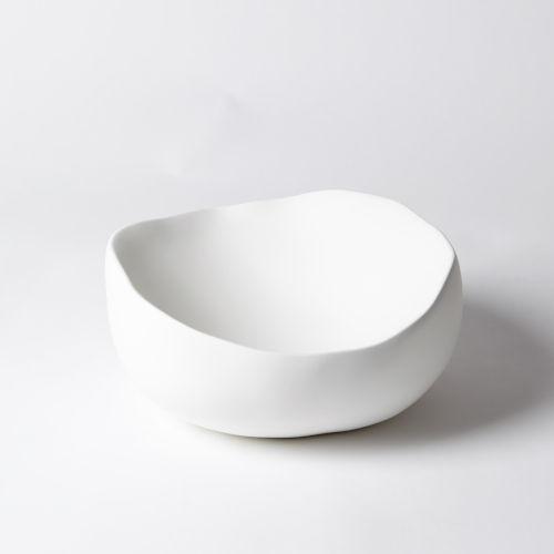 Matte White 12-Inch Round Bowl