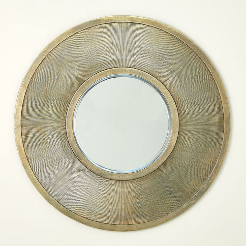 Sunray Antique Brass Wall Mirror