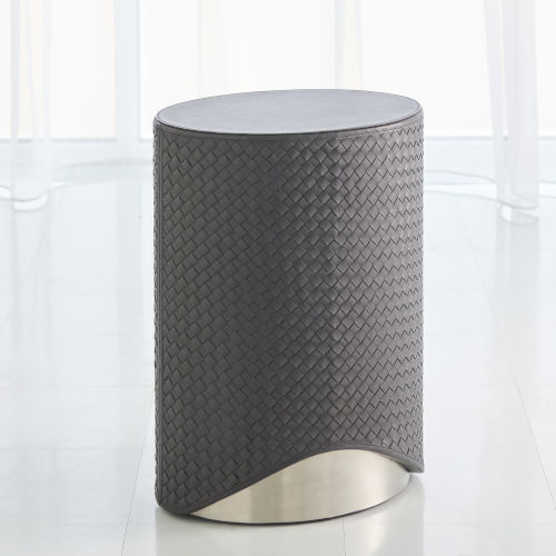 Milan Brushed Nickel 12-Inch Accent Table