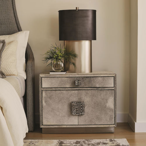 Metro Brushed Nickel 36-Inch Nightstand