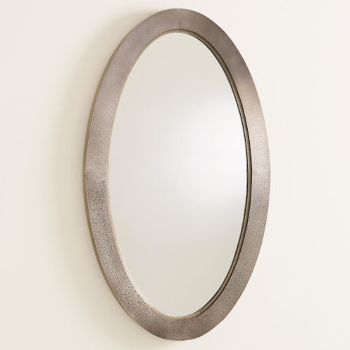 Everest Antique Nickel 24-Inch Small Mirror
