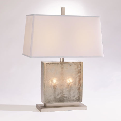Antique Nickel Two-Light Table Lamp