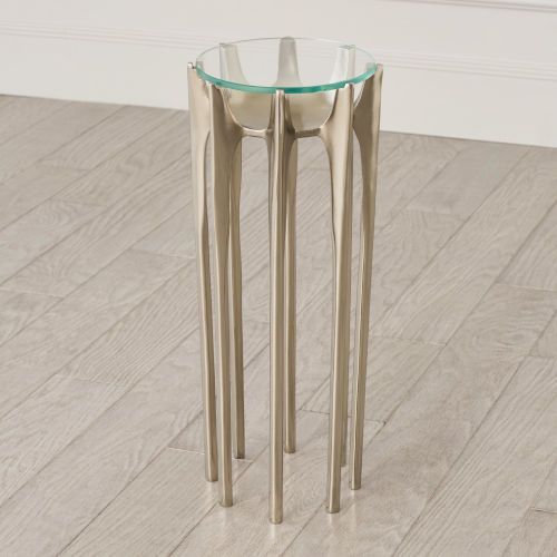 Aquilo Antique Nickel 10-Inch Accent Table