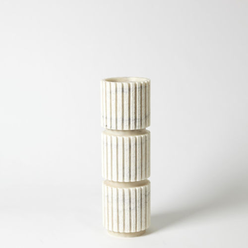 White Five-Inch Large Candle Holder