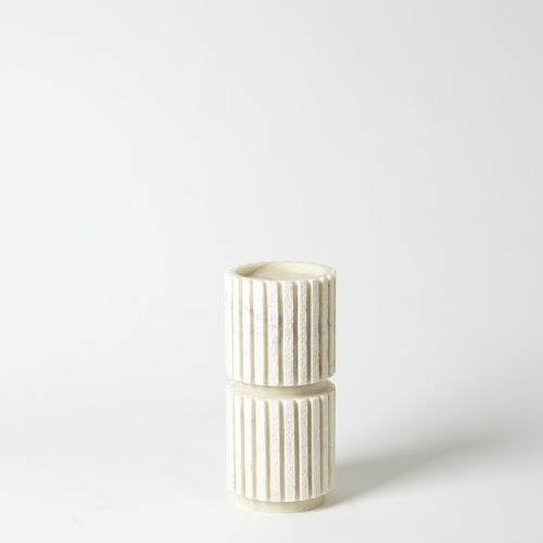 White Five-Inch Medium Candle Holder