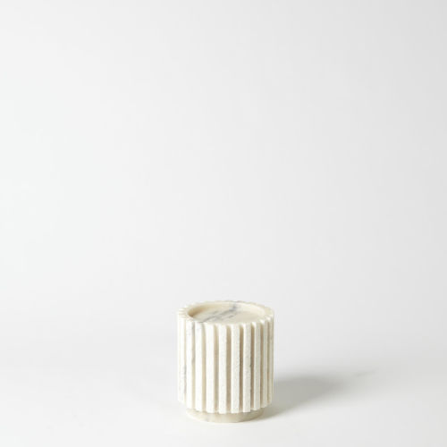 White Five-Inch Small Candle Holder