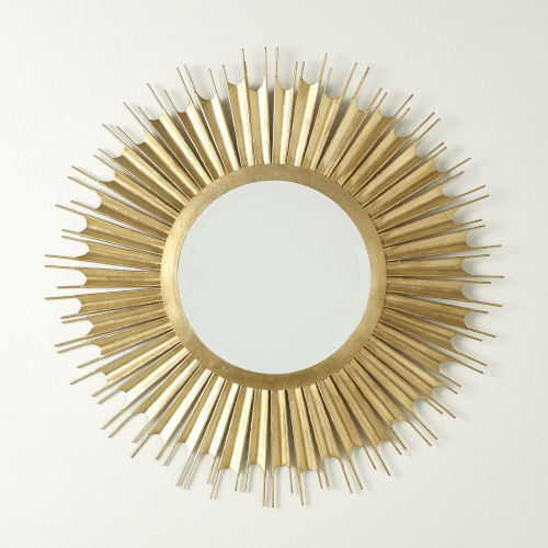 Necklace Gold Leaf Wall Mirror