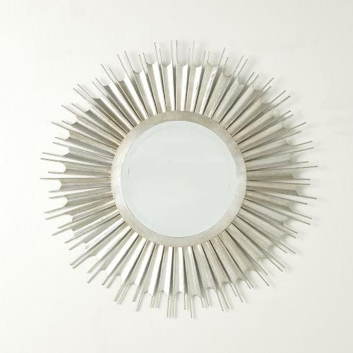 Necklace Silver Leaf Wall Mirror