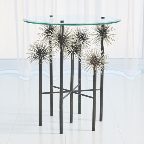 Boom Nickel 22-Inch End Table