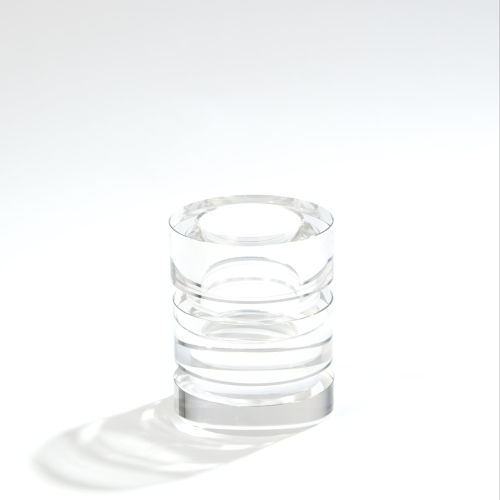 Brilliant Black Four-Inch Candle Holder
