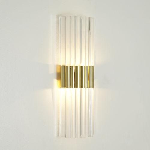 Brass Acrylic Wall Sconce