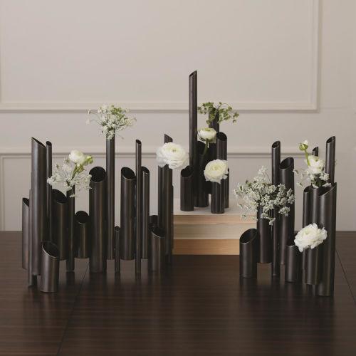 Bronze 16-Inch Multi Pipe Vase